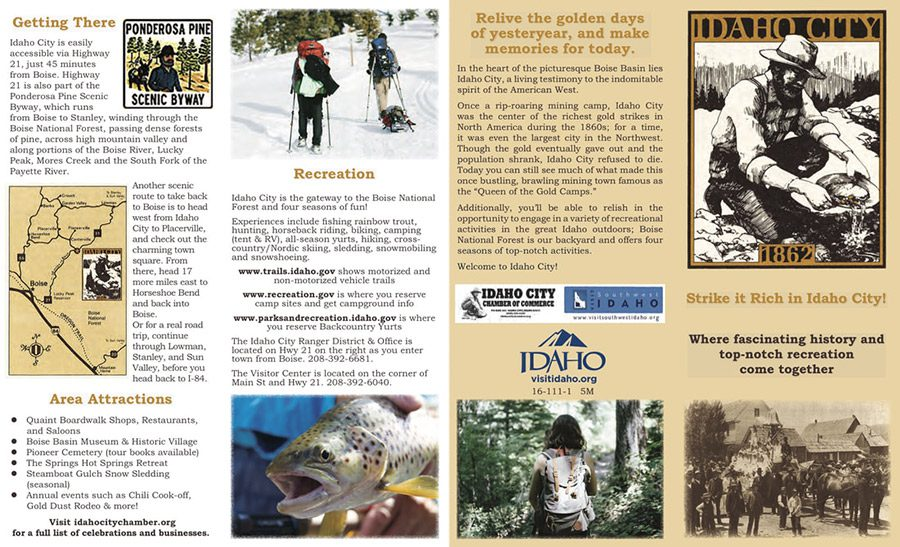 Idaho City Brochure page 1