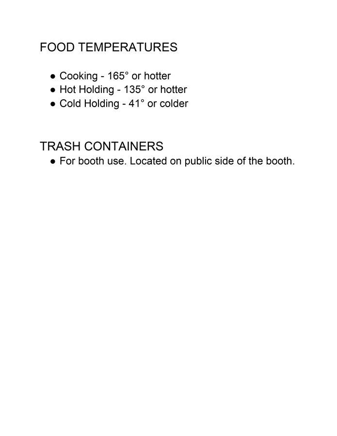 Food Temperatures